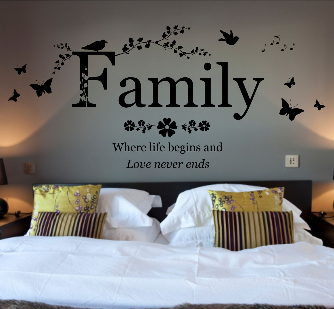 Family quotes wall art quotesgram for Family wall art