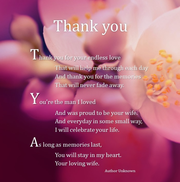 Thank You Quotes For Wife: Wife Funeral Quotes Memorial. QuotesGram