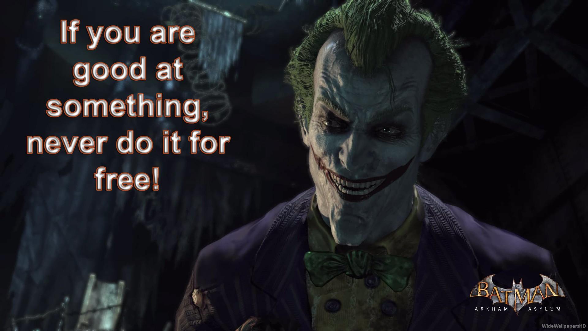 Joker Quotes: Arkham Asylum Joker Quotes. QuotesGram