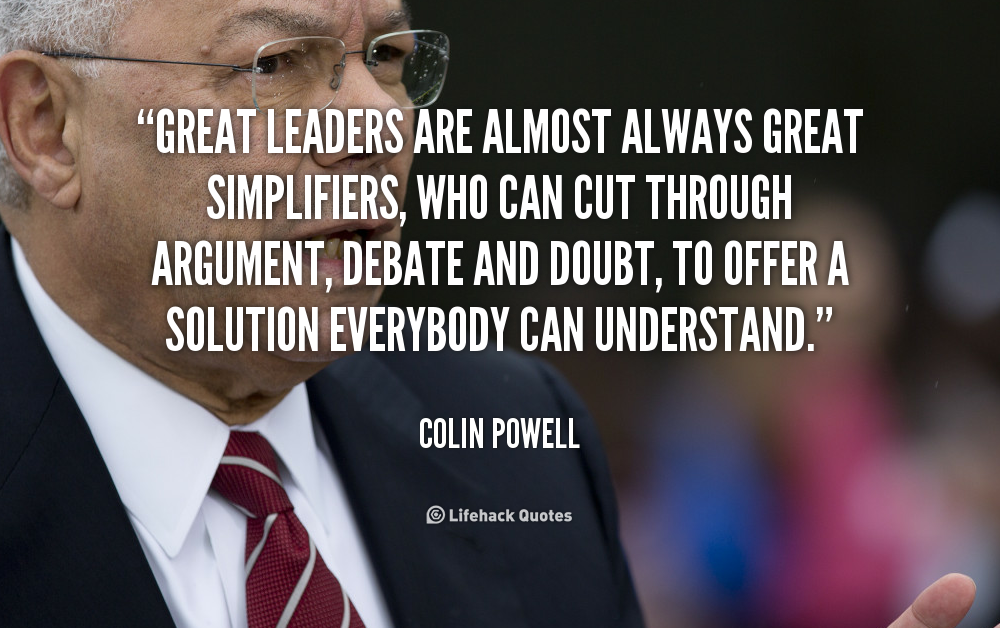 the leadership of colin powell Enjoy the best colin powell quotes at brainyquote quotations by colin powell, american statesman, born april 5, 1937 share with your friends.