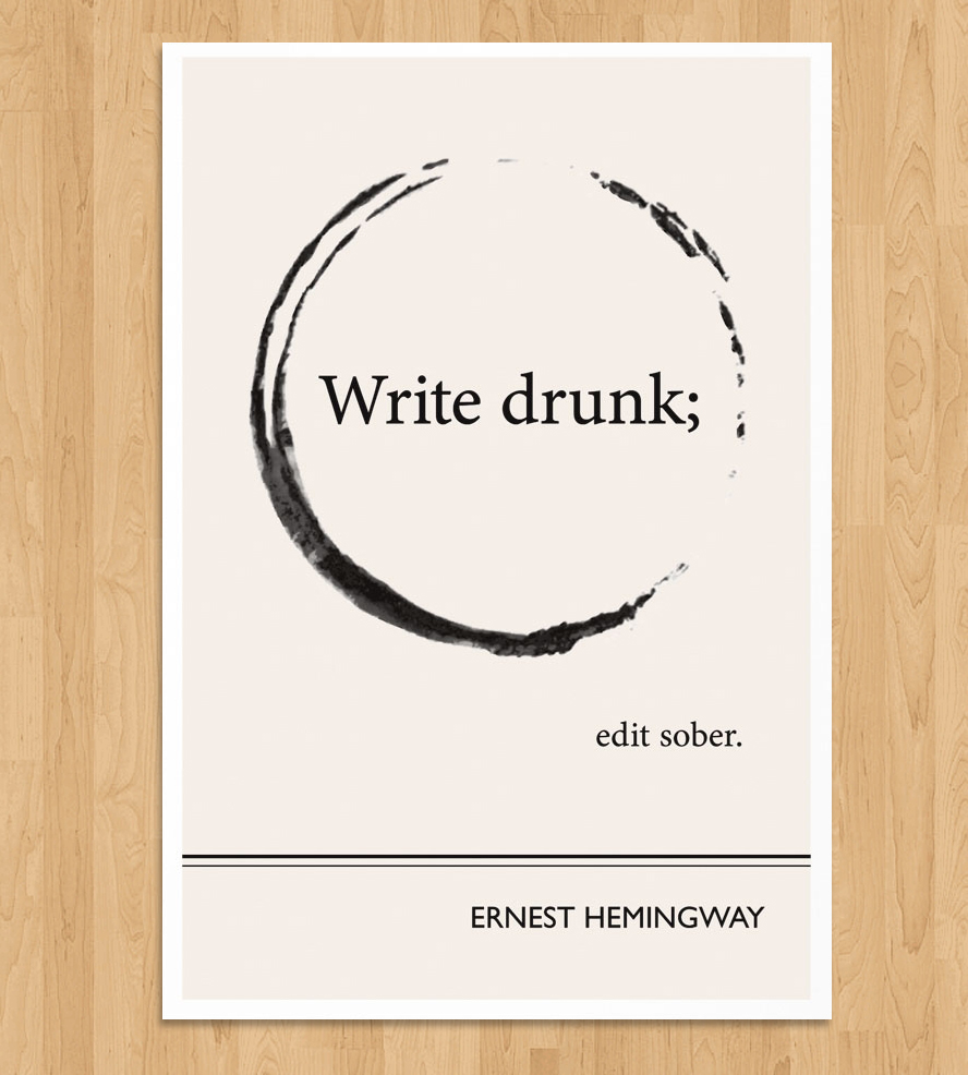 ernest hemingway quotes on writing The great ernest hemingway was born july 21st, 1899 he went on to write seven novels, six short-story collections, and two non-fiction pieces.
