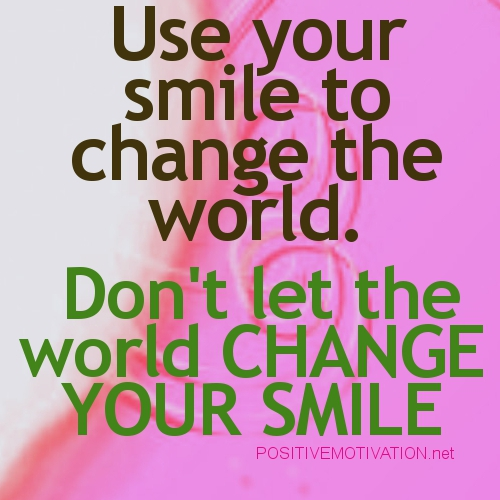 Best Smile In The World Quotes: Smile Quotes Positive Attitude. QuotesGram