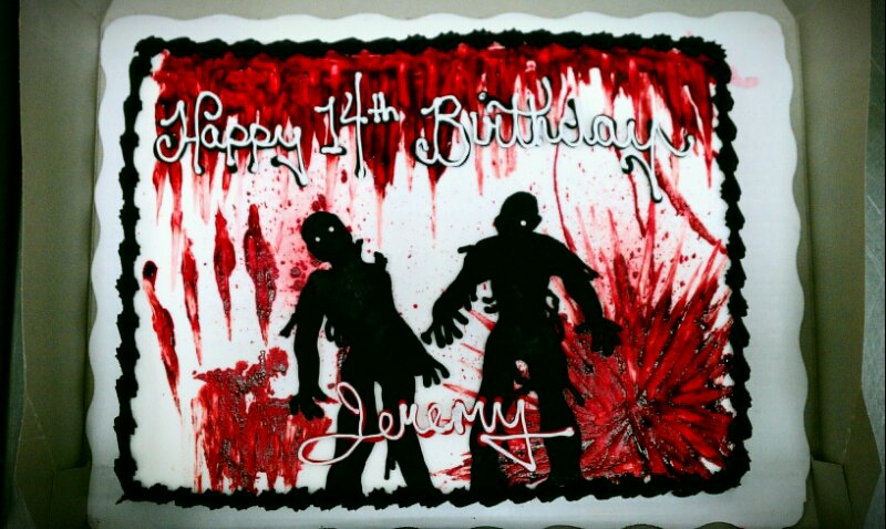 Terrific Zombie Birthday Quotes Quotesgram Personalised Birthday Cards Veneteletsinfo
