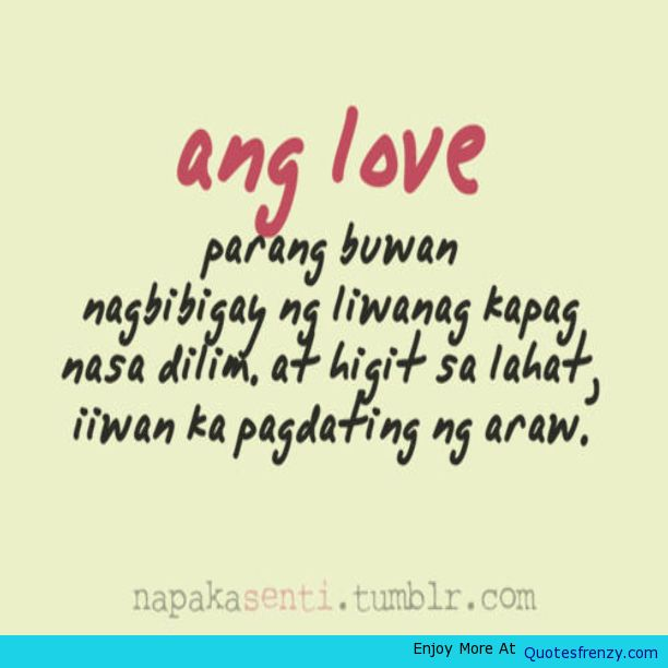 Love Quotes About Life: Tagalog Quotes About Life. QuotesGram