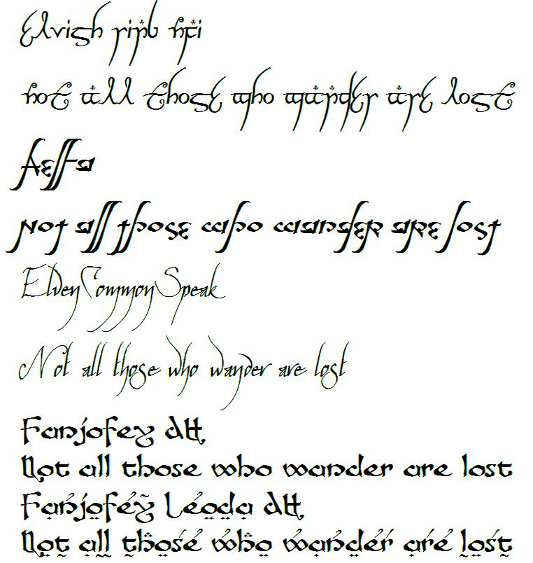 Elvish Quotes. QuotesGram