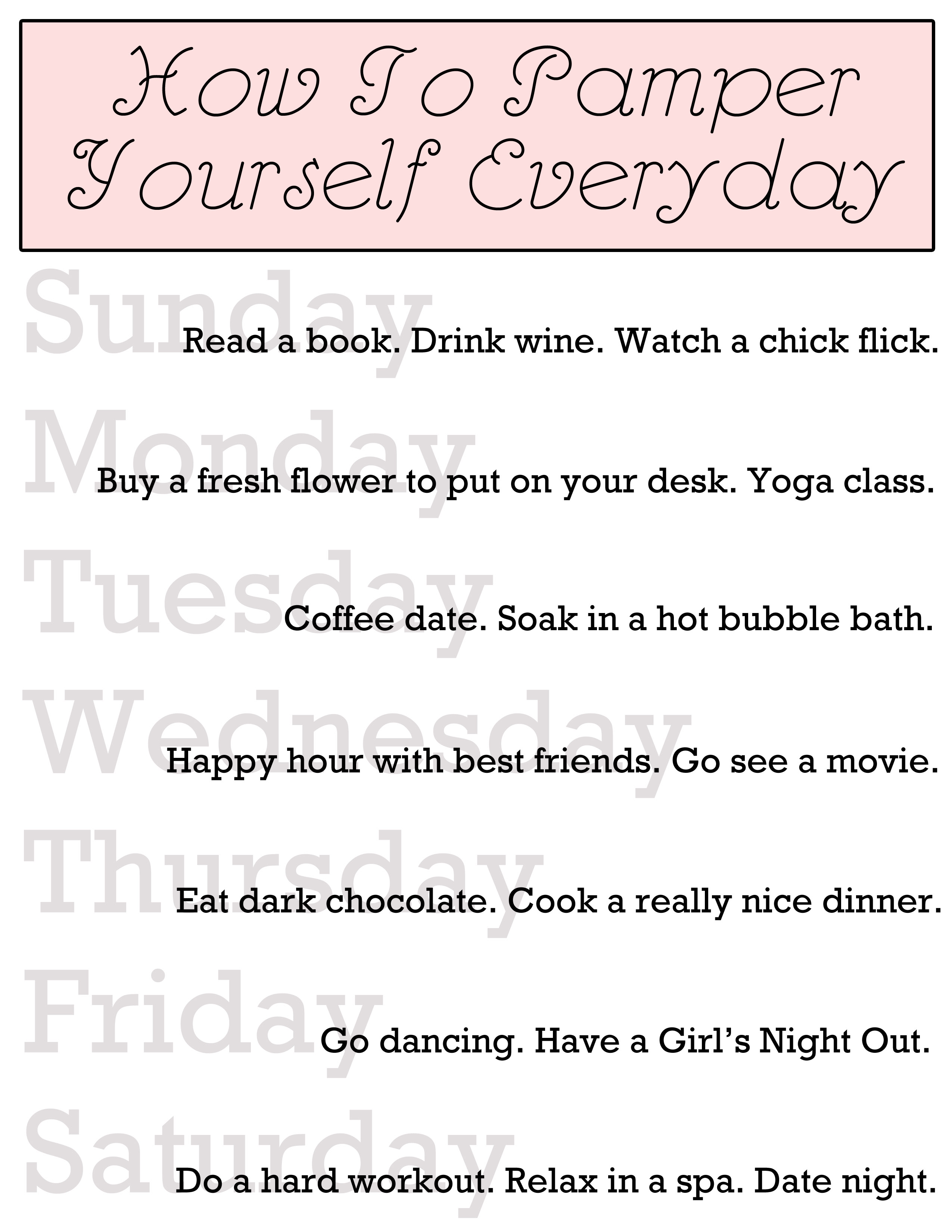 pamper yourself quotes quotesgram
