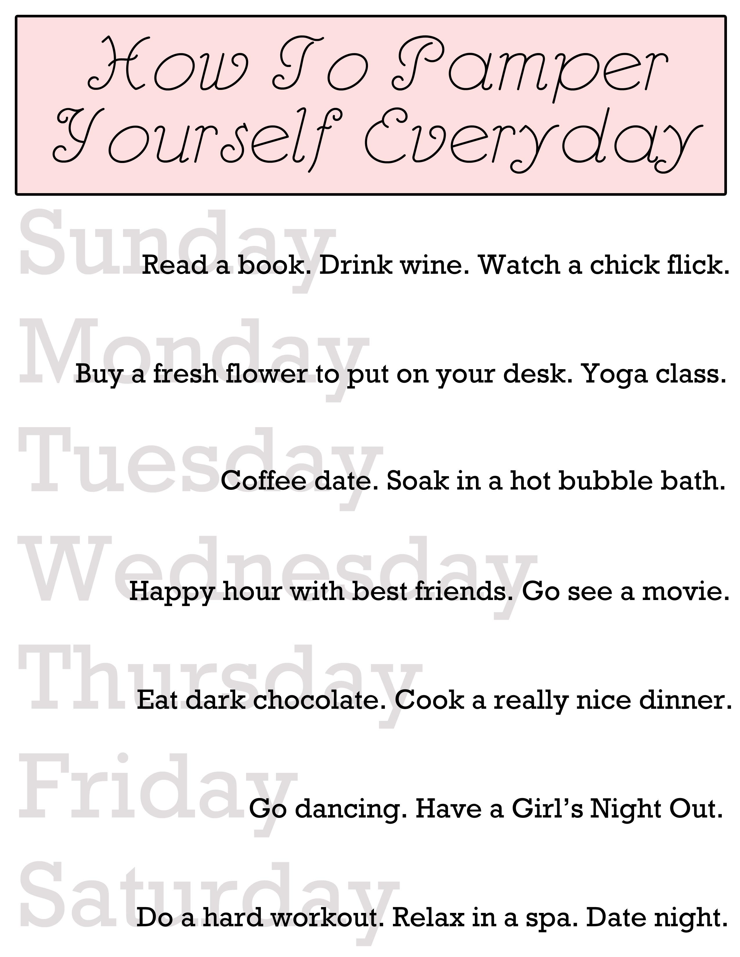 Spa Day Checklist