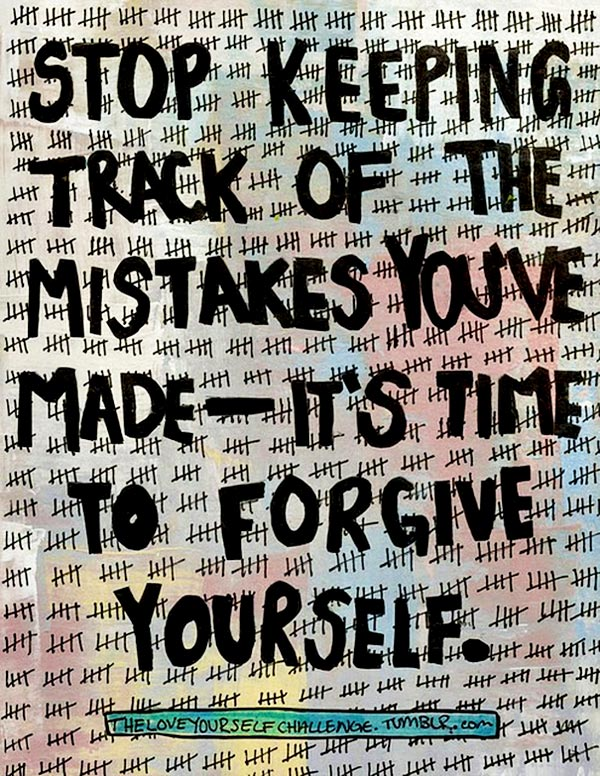 How to forgive yourself for mistakes in a relationship