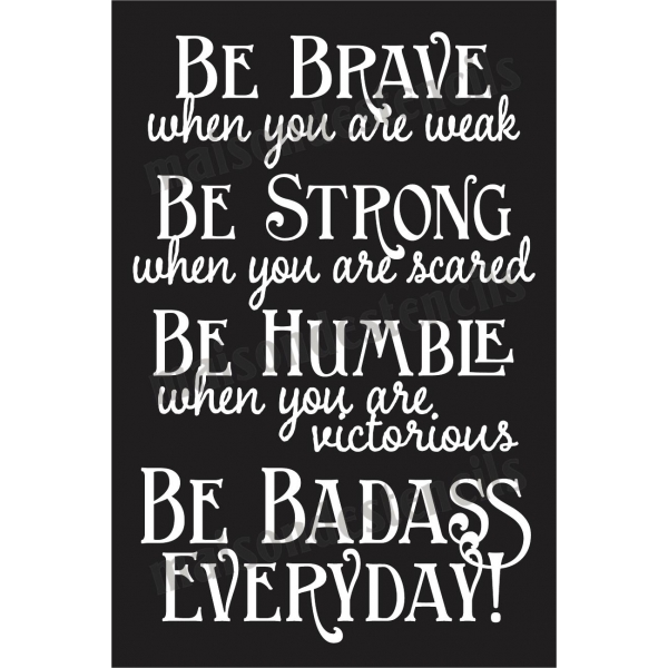 Be Strong Inspirational Quotes: Inspirational Quotes Stencils. QuotesGram