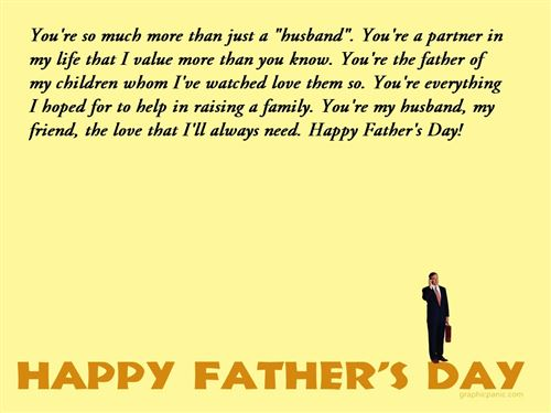 Fathers Day Messages From Wifes: My Husband For Fathers Day Quotes. QuotesGram