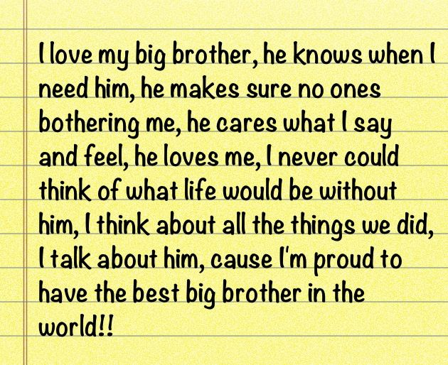 Quotes About Loving My Brother. QuotesGram
