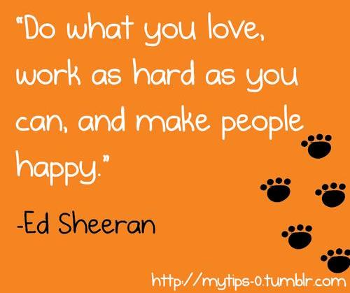 Short Sweet I Love You Quotes: Inspirational Quotes By Ed Sheeran. QuotesGram