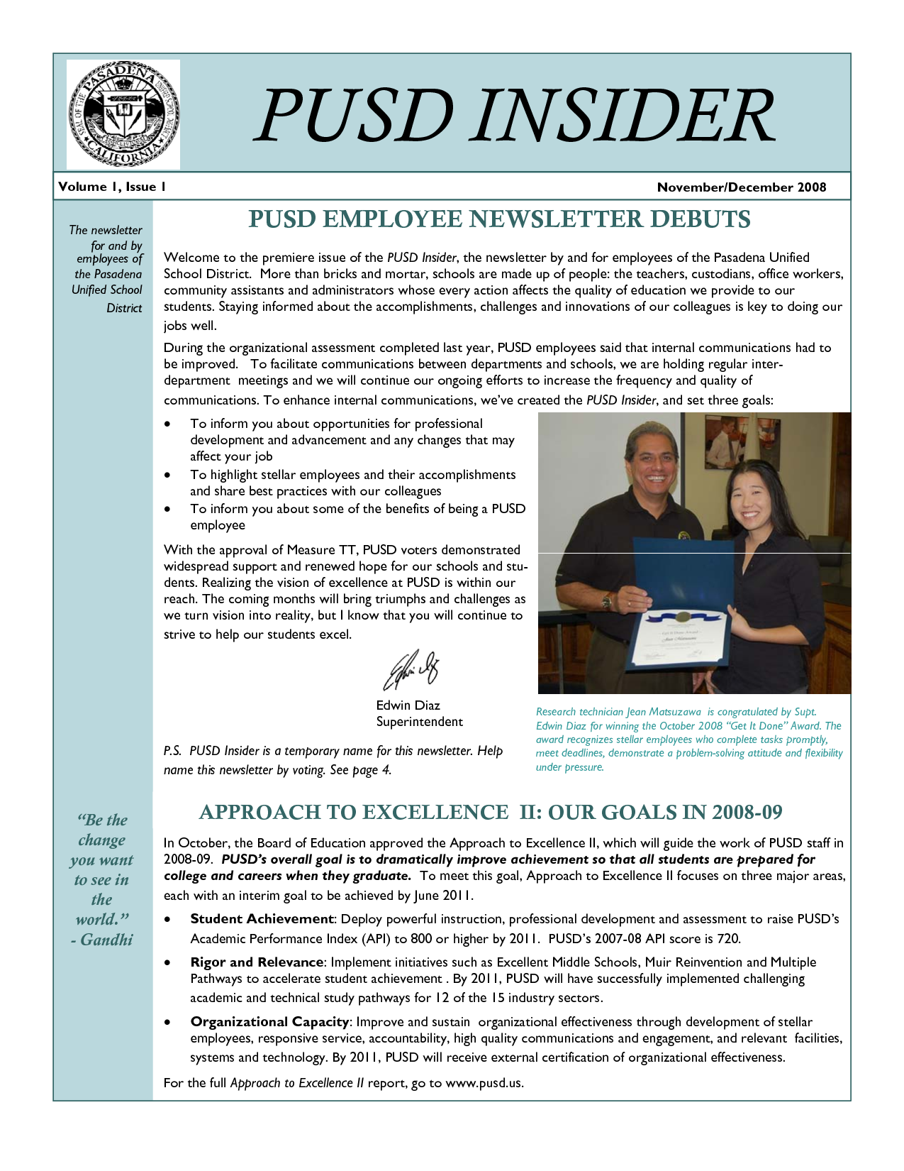 Quotes For Employee Newsletter. QuotesGram
