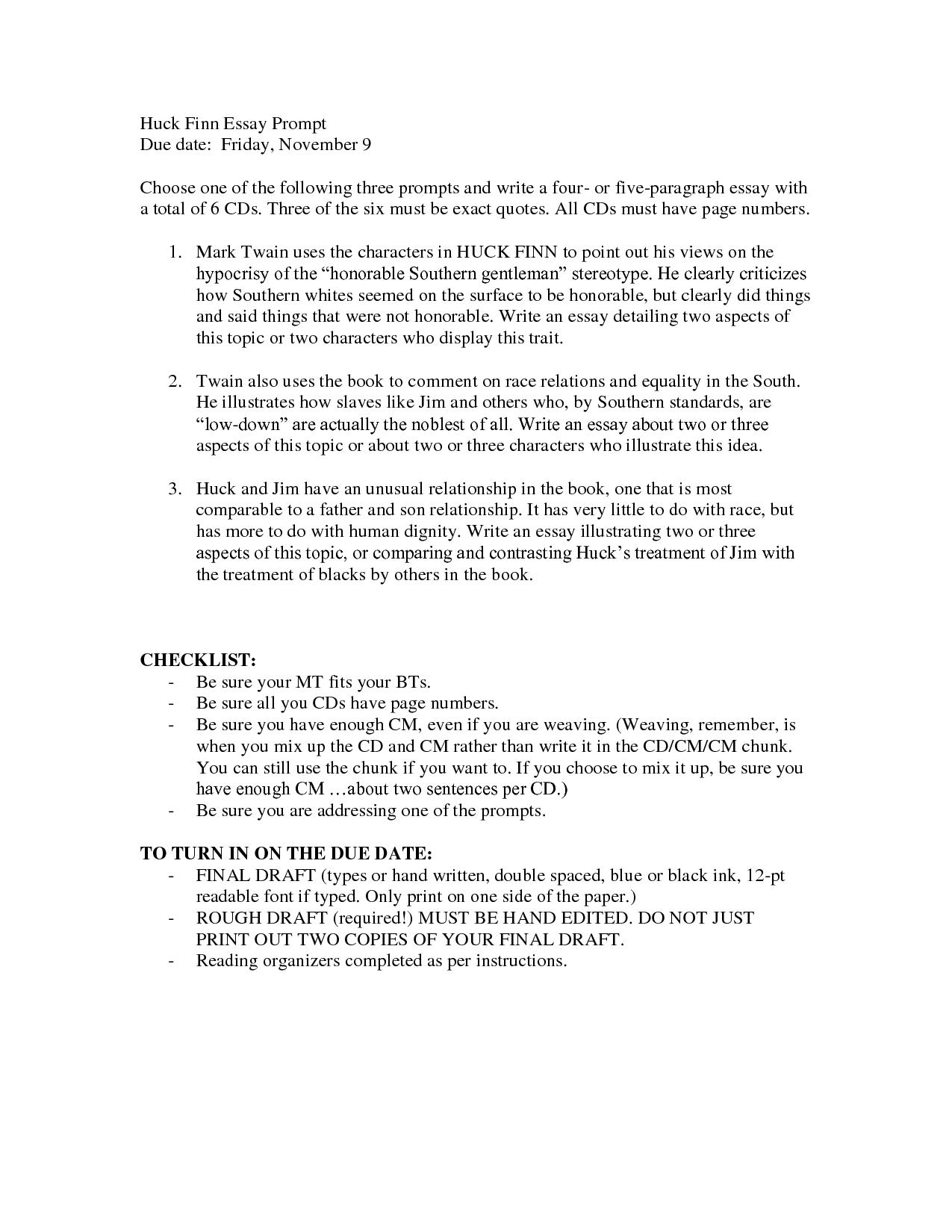 huck finn and jim relationship essay ideas