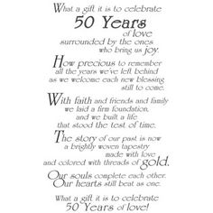50th Wedding Anniversary Quotes And Poems Quotesgram