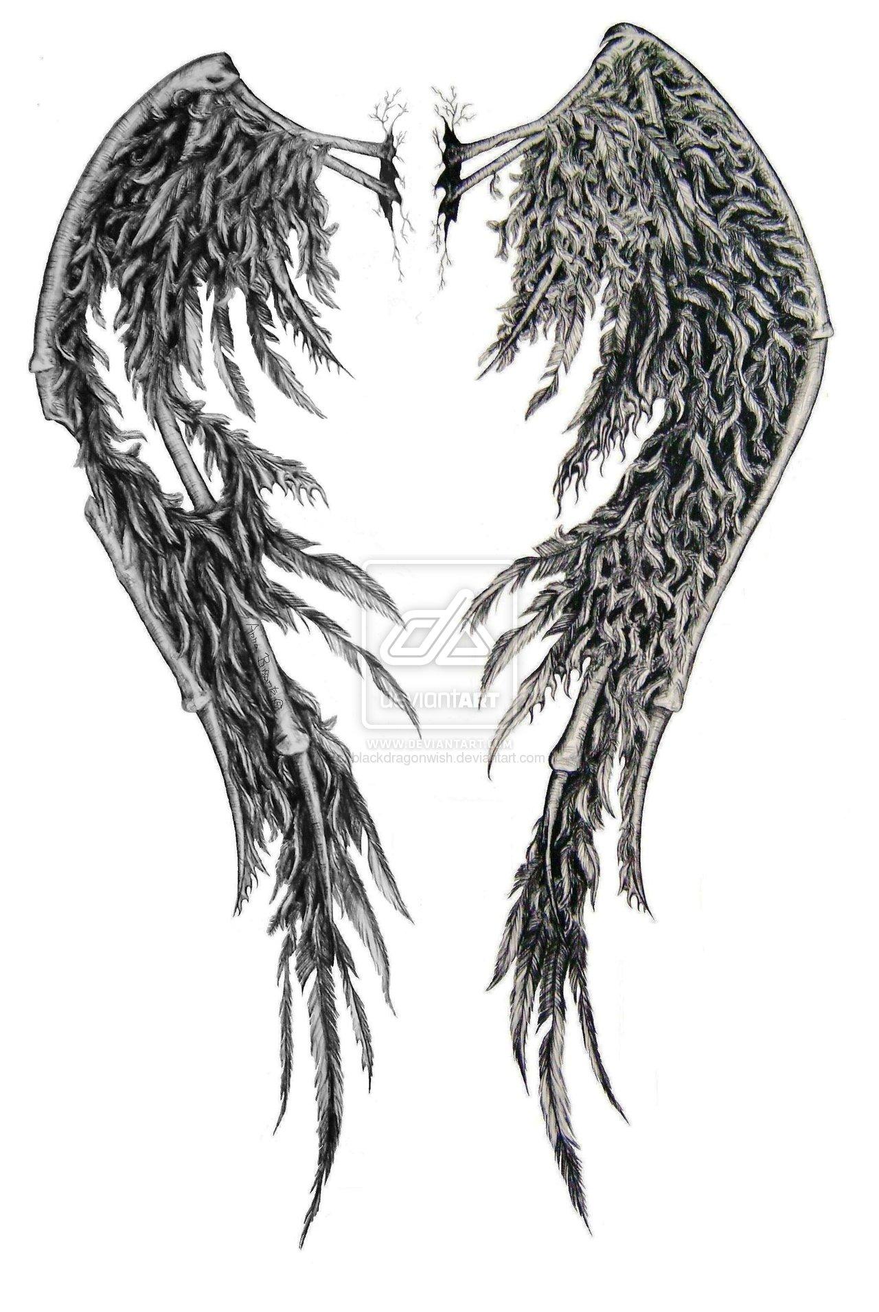Skeleton Wings Tattoo