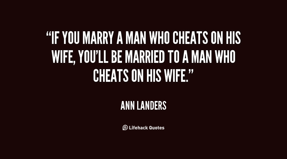married but cheating