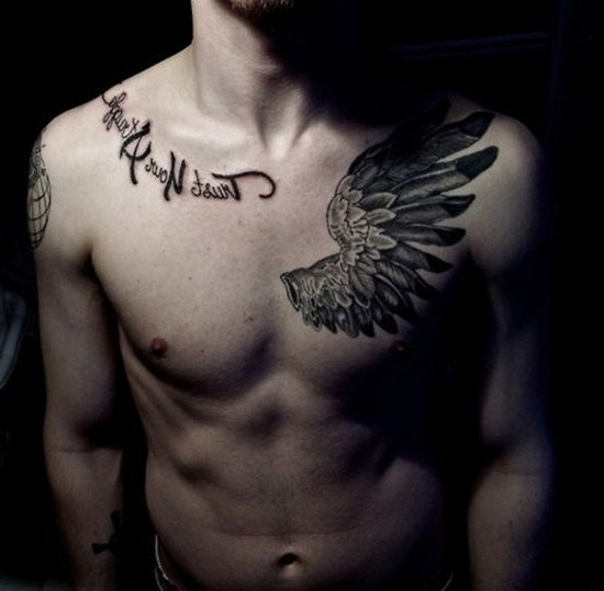Tattoos For Guys On Chest Quotes: Quotes For Men Cool Tattoo. QuotesGram