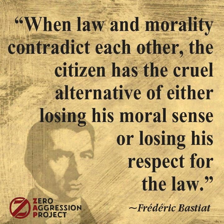 Martin Luther King - One has a moral responsibility to ...  Quotes About Morals And Law