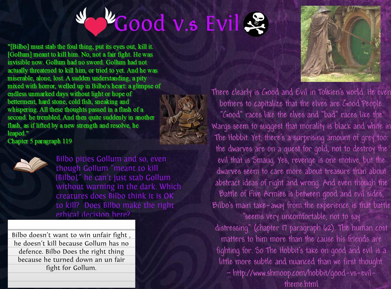 God vs evil