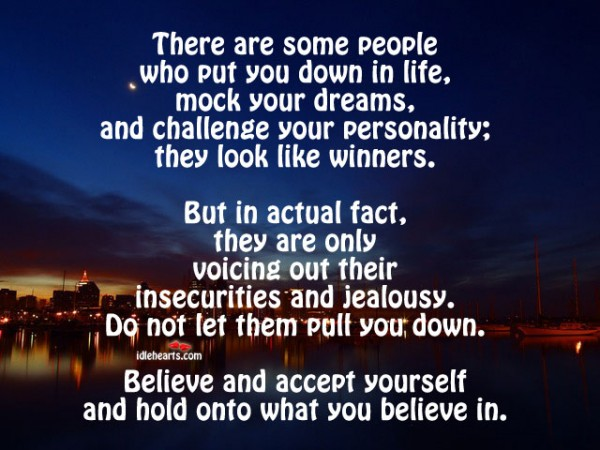 People Who Put You Down Quotes. QuotesGram