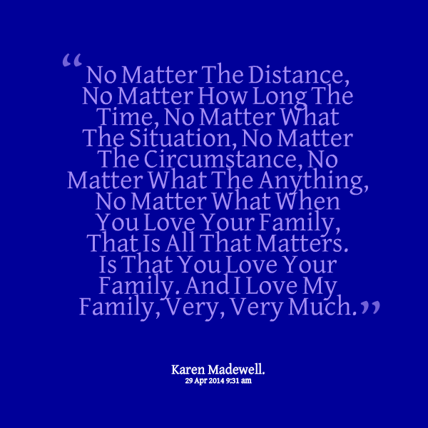 Distance And Time Quotes: Quotes About Family And Distance. QuotesGram