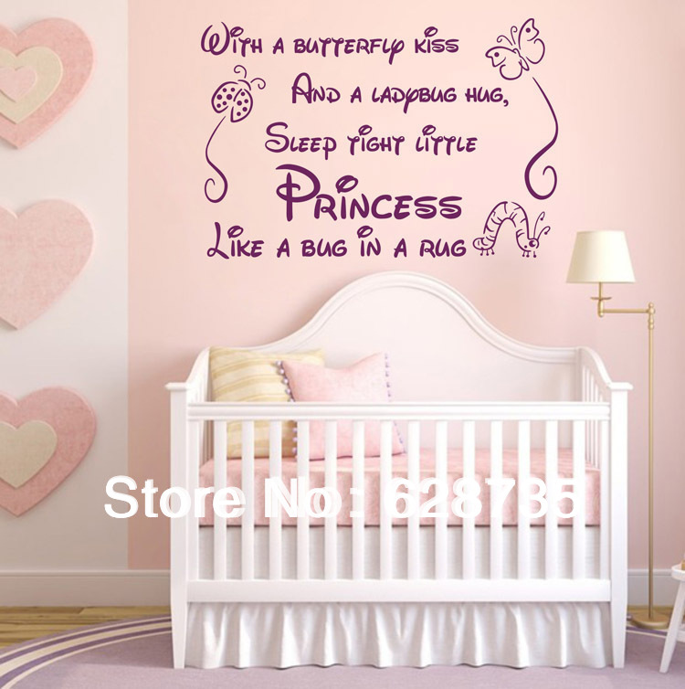 Wall Decal for Nursery Wall Decals for Kids Vinyl Kids Decal Wall Decal for Bedroom Butterfly Kisses Wall Decal Vinyl Lettering