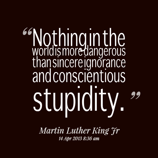 Quotes About Stupidity And Ignorance Quotesgram
