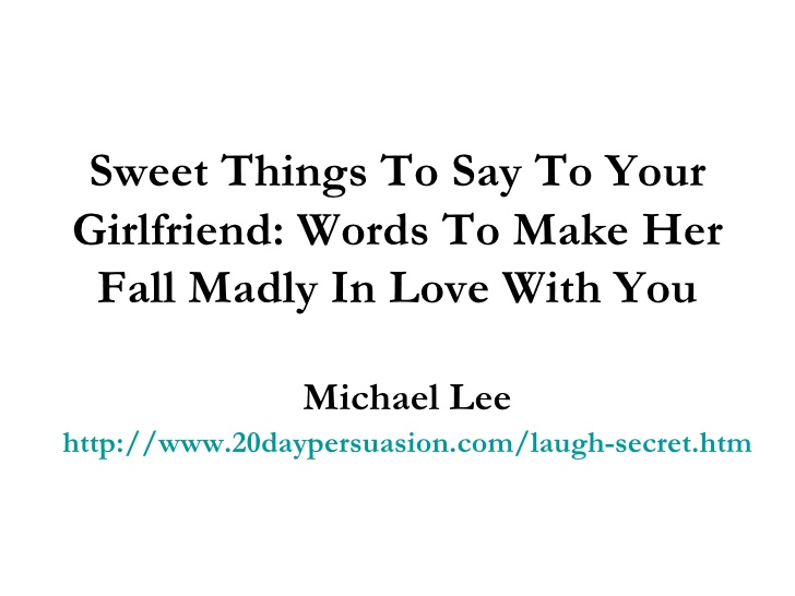 sweet things to get a girl