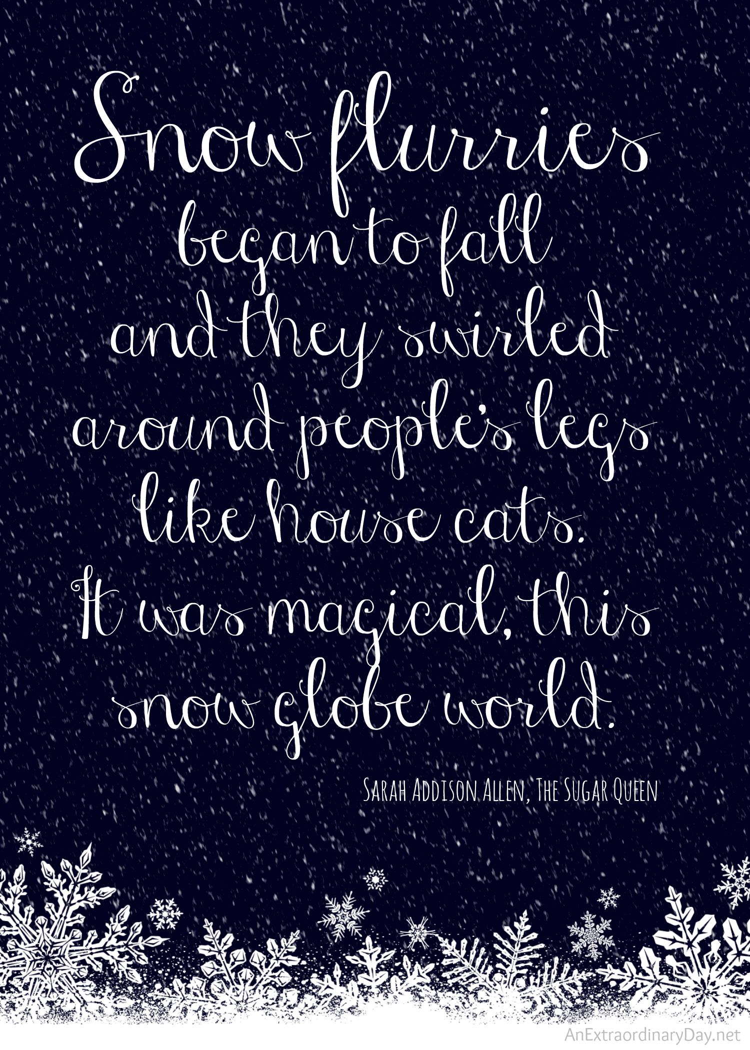 Snowy Day Inspirational Quotes. QuotesGram
