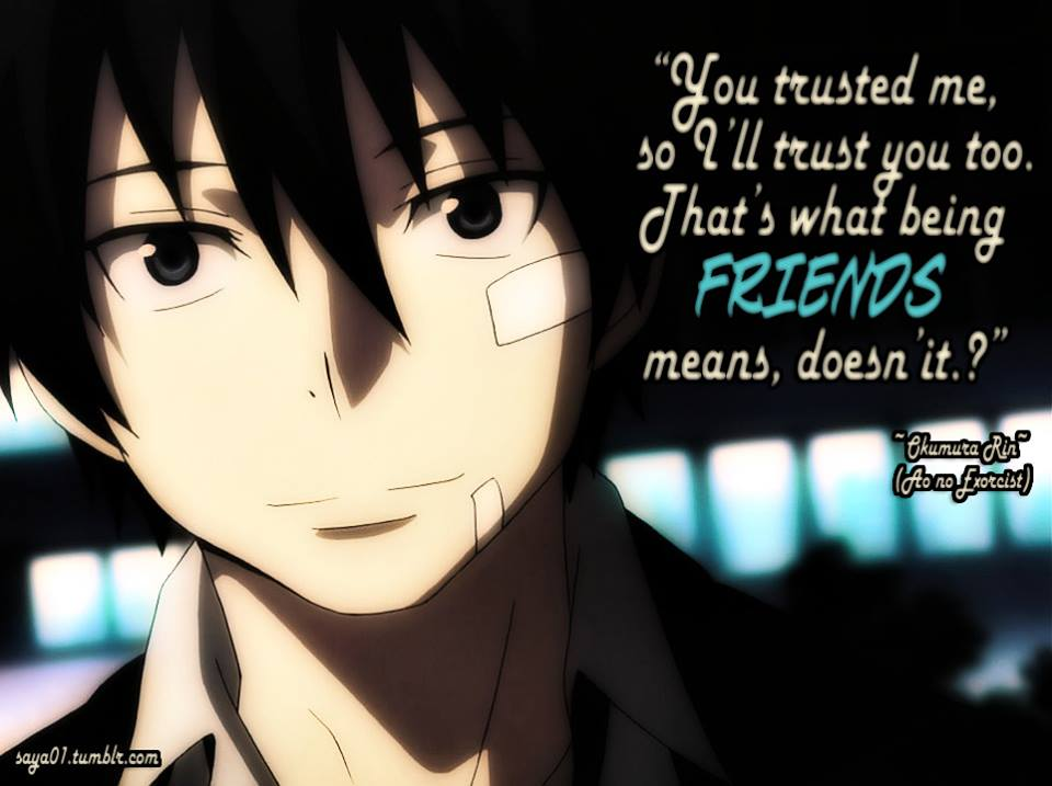 Anime Quotes: Anime Quotes About Friendship. QuotesGram