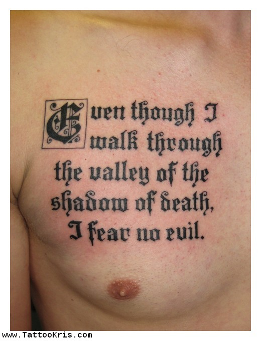 Bible Quotes Tattoos F...