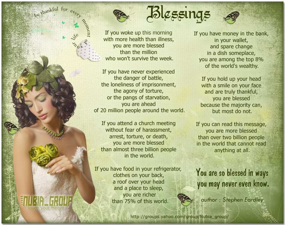 Blessing Quotes And Poems. QuotesGram