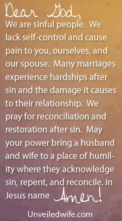 Marriage prayers adultery after for restoration 25 Prayer