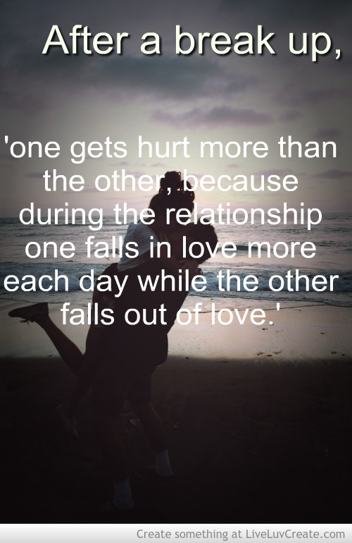 Inspirational Quotes After A Break Up Quotesgram