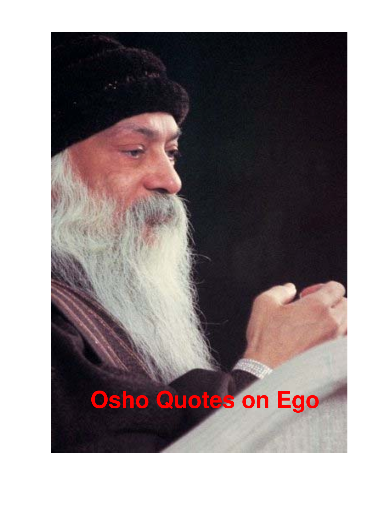 Osho On Ego Quotes. QuotesGram