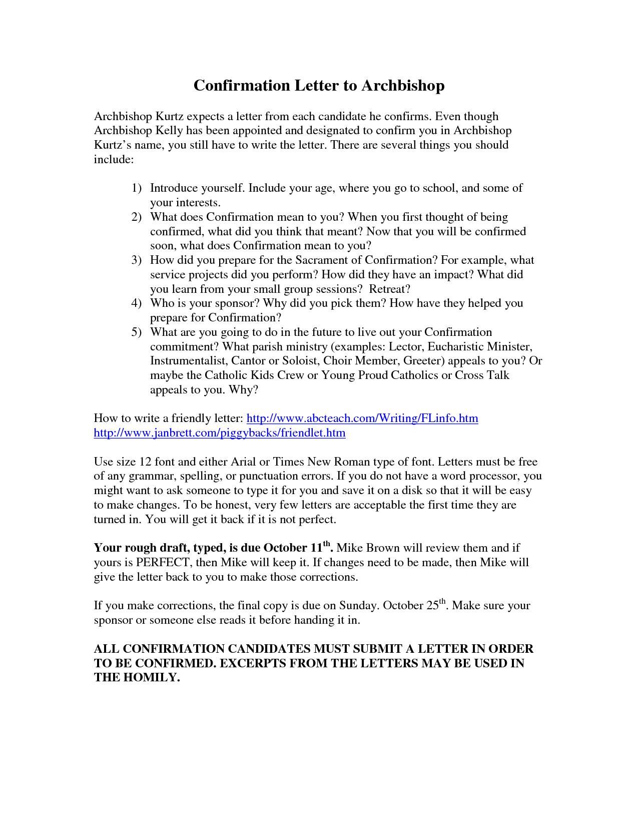 bankruptcy letter of affirmation for daughter