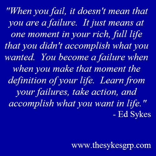 Inspirational Quotes About Failure: Inspirational Quotes About Life Success. QuotesGram
