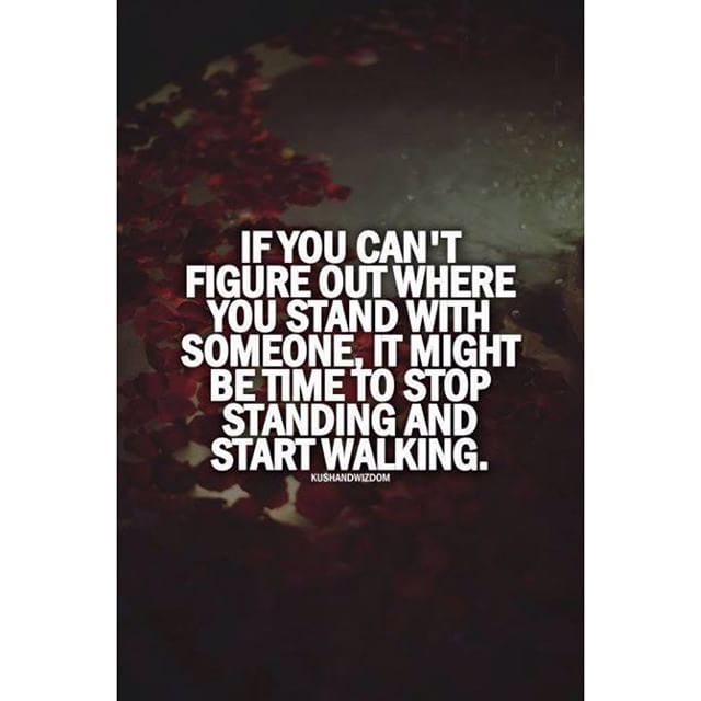 Walking away from relationship