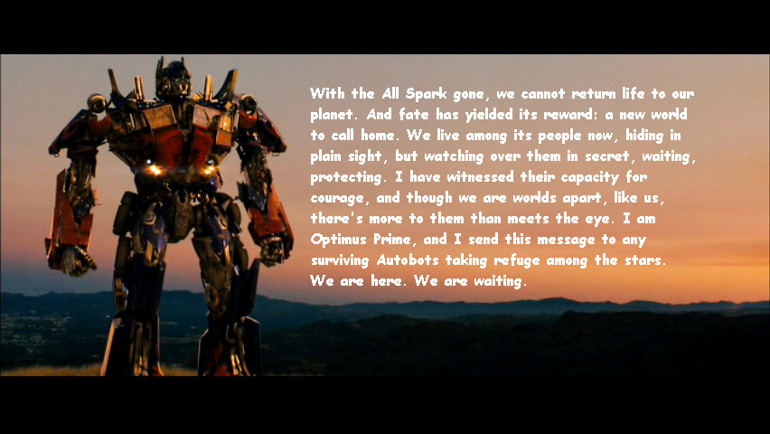 optimus prime quotes ending relationship