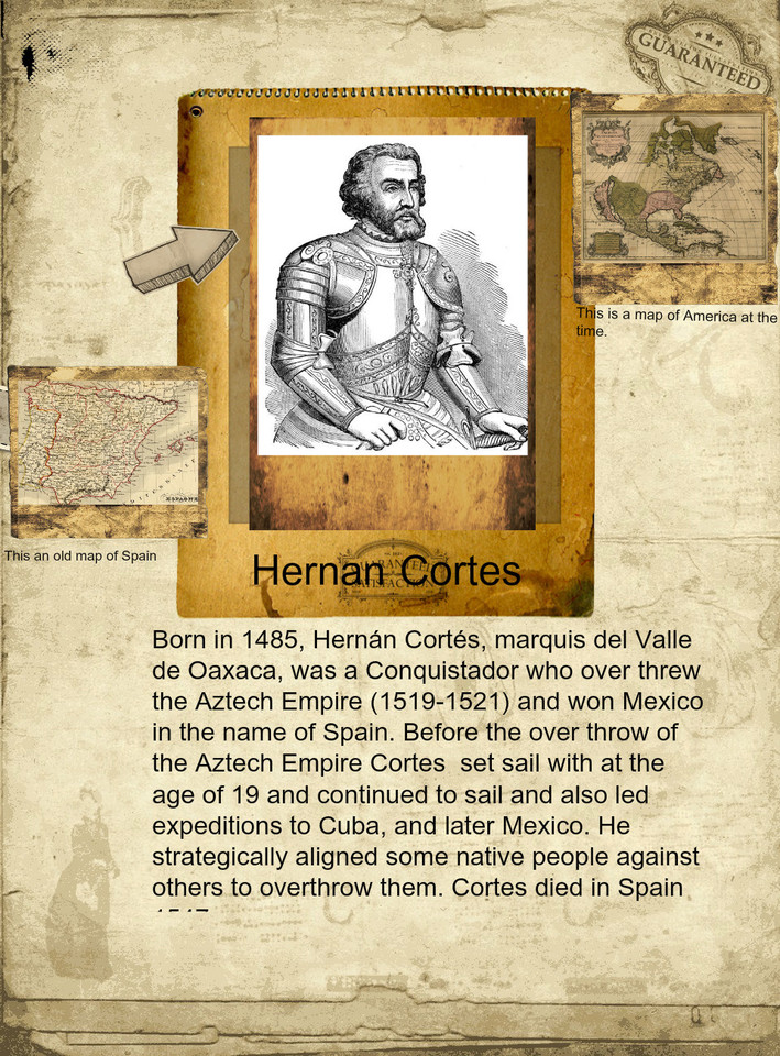 the biography of hernan cortes (medellin, badajoz, 1485 - castilleja de la cuesta, seville, 1547) spanish conqueror of mexico few times the story has attributed to verve and determination of one-man conquest of a vast territory.