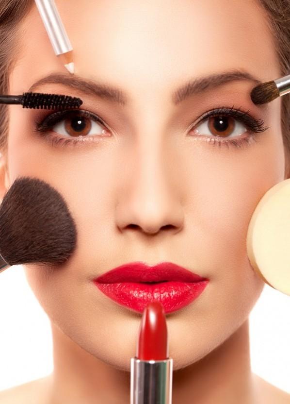 Getting makeup