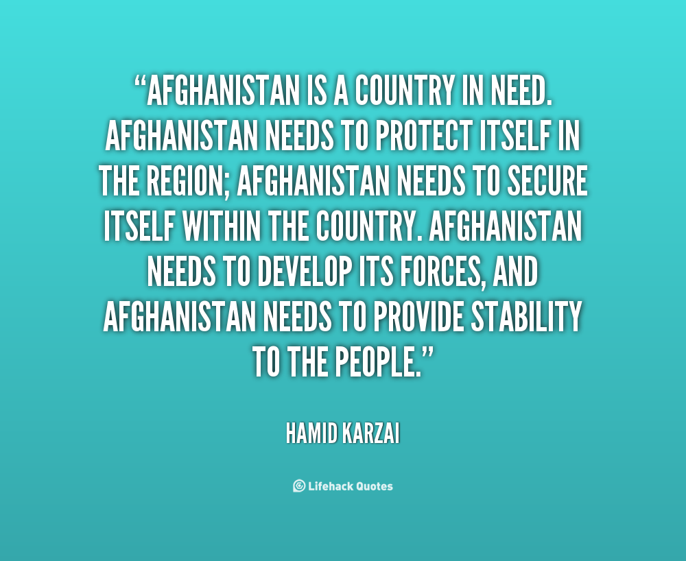 our relationship with afghanistan