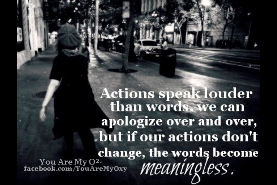 Actions And Words Quotes: Quotes About Actions Over Words. QuotesGram