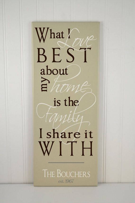Family Wood Signs With Quotes Quotesgram