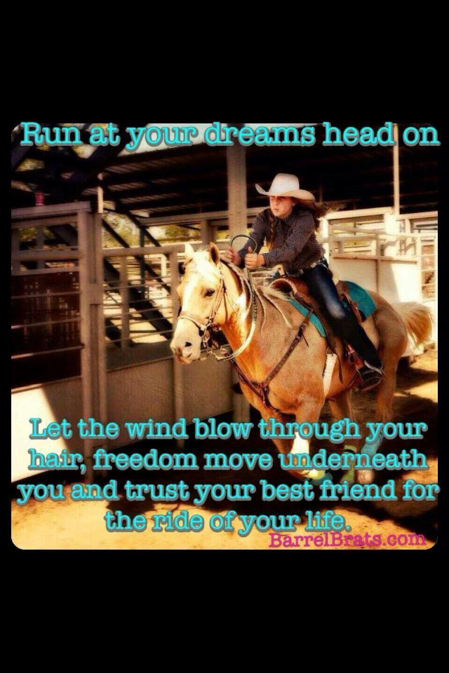 Cool Barrel Racing Quotes Quotesgram