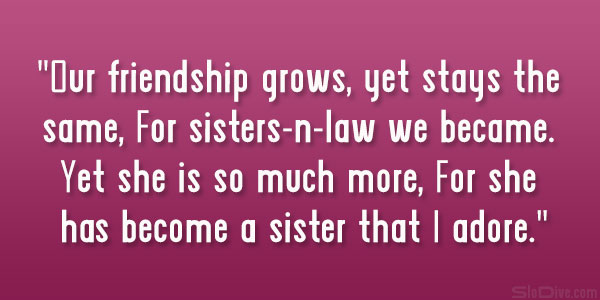 sister in law inspirational quotes quotesgram