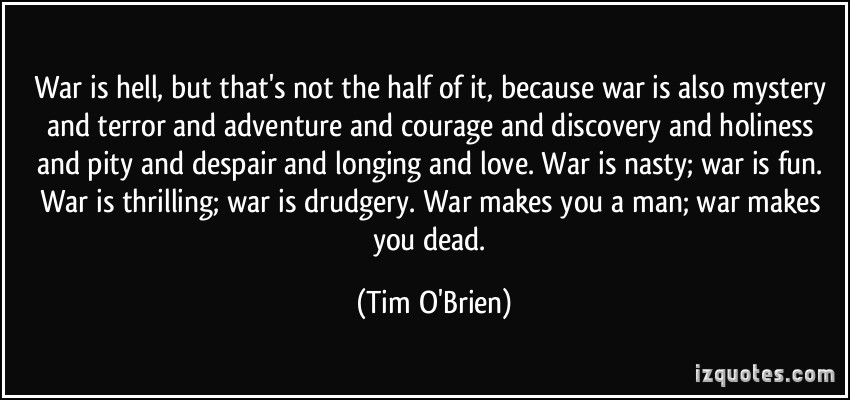 tim o brien speaking of courage