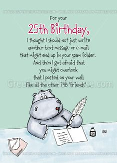 25th Birthday Quotes Funny. QuotesGram