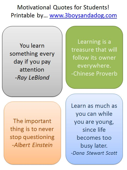motivational quotes for school students quotesgram